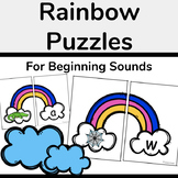 Rainbow Beginning Sound Puzzles (Matching Activity)