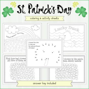 St. Patrick's Day Activity and Coloring Sheets