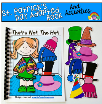 """St. Patrick's Day Adapted Book:  """"That's Not the Hat"""""""