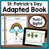 St. Patrick's Day Adapted Book for Special Education | Prepositions