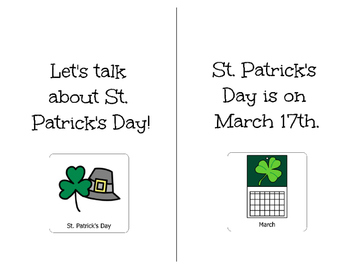 St. Patrick's Day-Adapted Book for Students with Disabilities