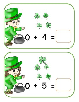 St Patrick's Day Adding 0-5