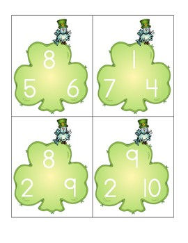 St Patrick's Day Adding 3 Numbers