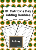 St. Patrick's Day Adding Doubles Worksheets