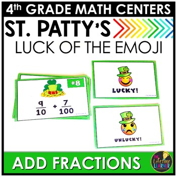 St. Patrick's Day Adding Fractions Similar Denominators Game