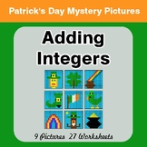 St Patrick's Day: Adding Integers - Color-By-Number Mystery Pictures