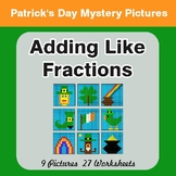 St. Patrick's Day: Adding Like Fractions - Color-By-Number