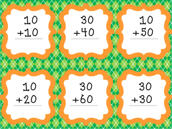 St. Patrick's Day Adding Tens Matching Game