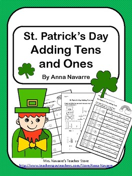 St. Patrick's Day Adding Tens and Ones