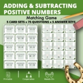 St. Patrick's Day: Adding and Subtracting Integers #1 Matc