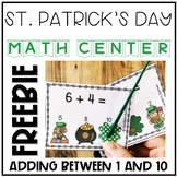 St. Patrick's Day Adding within 10 Interactive Task Cards