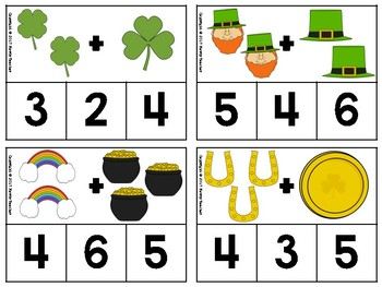 St. Patrick's Day Addition Clip Cards