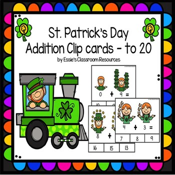 St. Patrick's Day Addition Clip Cards to 20