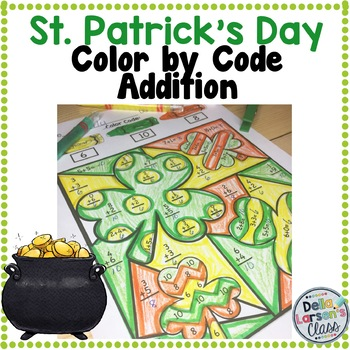 St. Patrick's Day Addition Color By Code