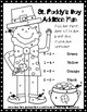 St. Patrick's Day Addition Coloring Page Worksheet