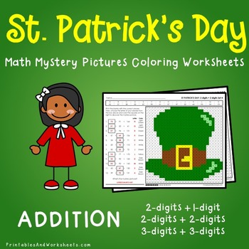 St. Patrick's Day Addition Coloring Worksheets