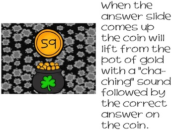 St. Patrick's Day Addition Editable Game