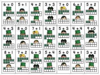 St. Patrick's Day Addition Facts Craft and Math Center