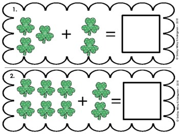 St. Patrick's Day Addition Math Center