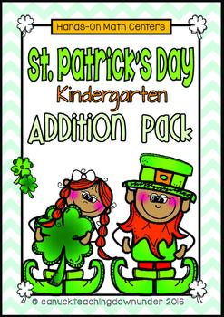St.Patrick's Day Addition Math Centers Kindergarten