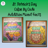 St Patrick's Day Addition Color by Number - Mixed Addition Facts