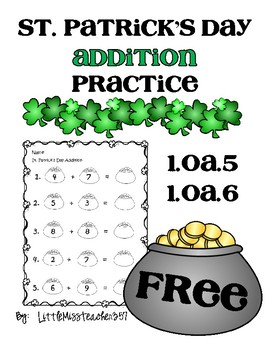 St. Patrick's Day Addition Practice