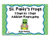St. Patrick's Day Addition Regrouping Task Cards