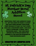 St. Patrick's Day Addition Scoot with Number Bonds
