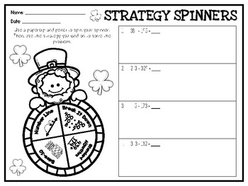 St. Patrick's Day Addition Strategy Spinners
