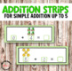 St Patrick's Day Addition Strips for Math Centers