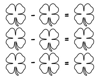 St. Patrick's Day Addition & Subtraction