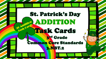 St. Patrick's Day Addition Task Cards