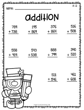 St. Patrick's Day Addition Worksheet - Mixed Regrouping