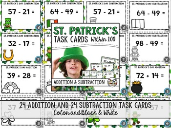 St. Patrick's Day Addition and Subtraction Activity Cards