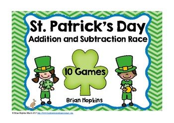 St. Patrick's Day Addition and Subtraction Board Games