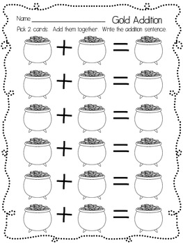St. Patrick's Day Addition and Subtraction Game