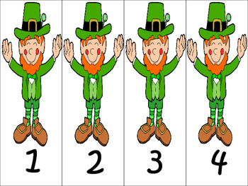 St. Patrick's Day Addition and Subtraction Match