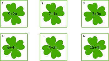 St. Patrick's Day Addition and Subtraction Scoot