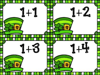 St. Patrick's Day Addition and Subtraction Towers within 10