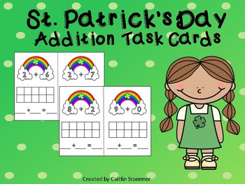 St. Patrick's Day Addition to 10 Task Cards