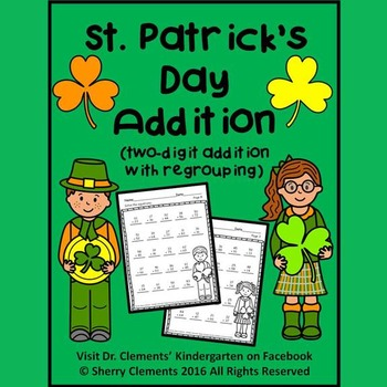 St. Patrick's Day Addition (two-digit addition with regrouping)