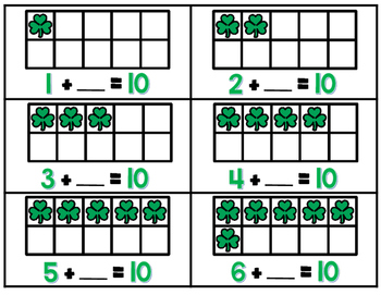 St. Patrick's Day Addtion to Ten-Lucky Ten Frames