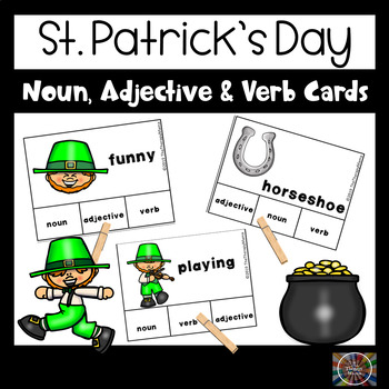 St. Patrick's Day Adjective, Noun and Verb Task Cards