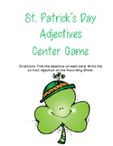 St. Patrick's Day Adjectives Center Game