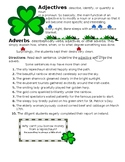 St. Patrick's Day Adjectives and Adverbs Worksheet