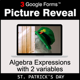 St. Patrick's Day: Algebra Expressions with 2 variables -