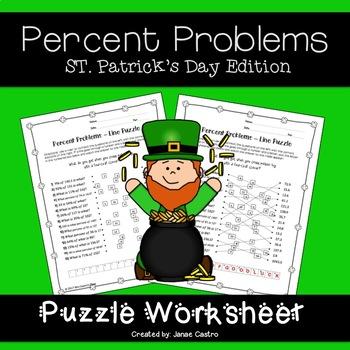 St. Patrick's Day Algebra - Percent Problems