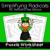 St. Patrick's Day Algebra - Simplifying Radicals
