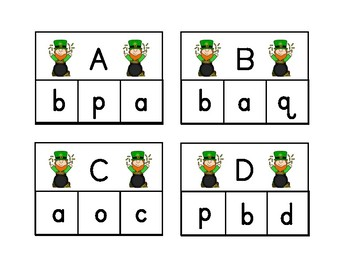 St. Patrick's Day Alphabet Clip Cards