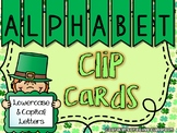 St. Patrick's Day - Alphabet Clip Cards (Lowercase and Uppercase Letters)